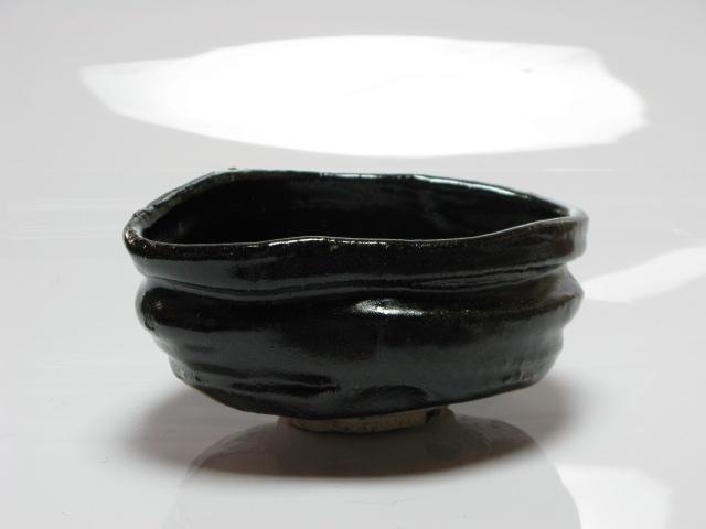 織部黒 沓茶碗